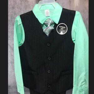 Boys 4 Piece Vest/ Suit Set